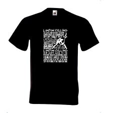 THE CLASH - LONDON CALLING - LYRIC  - T Shirt JOE STRUMMER