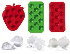 Kids Birthday Party Gifts 3 Silicone Ice Cube Tray Sunny Face Strawberry Apple