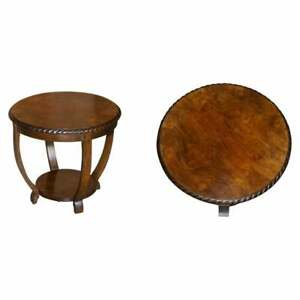 LOVELY VINTAGE BURR & QUARTER CUT WALNUT OCCASIONAL TABLE GOOD LAMP END WINE ETC