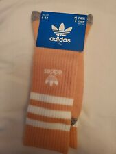 Adidas socks large crew peach color