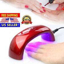 Nail Gel Machine for Portable Curing Lamp CCFL New 9W UV Nail Polish Dryer LED