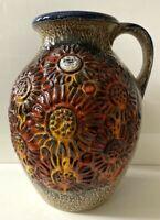 JASBA Vase Keramik XL WGP 60s 70s Form N075 13 28  mit Label Rar! gelb orange