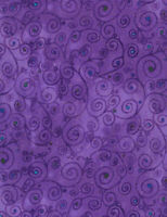 Fabric Purple Scroll with Metallic Cotton TIMELESS TREASURES1/4 Yard CM6414-PRPL