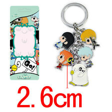 Manga Gintama Keyring Key Ring/Chain Pendant Animation Cosplay Gin Tama Anime