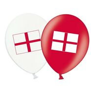 "St George Cross England 12"" Latex Red & White Assorted Balloons  Pack of 8"