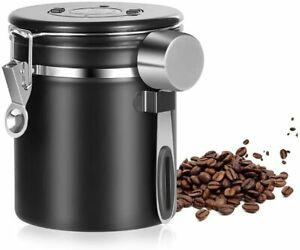 Coffee Canister Airtight Stainless Steel Kitchen Food Storage Container
