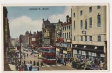 Leeds, Briggate, Old Bus Dennis Postcard, B620