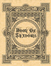 Cover or Title Page for Book of Shadows Spells, Wicca, Witchcraft, Pagan