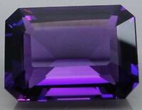 23.3ct Natural Emerald Purple Amethyst 13x18mm Faceted Cut VVS Loose Gemstone