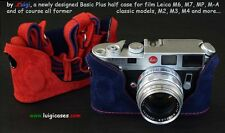*LUIGI's BLUE & RED CASE for LEICA M2-M3-M4-M6-M7-MP,LINED STRAP+FEDEX INCLUDED