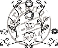 Marianne Design QUILLING Clear  Stamp Set FLOWERS & HEARTS FG2462 REDUCED