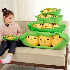 "Novelty Peas In a Pod Soft Plush Toy Stuffed Doll 9.5"" Bean Bag 3 Peas-in-a-pod"