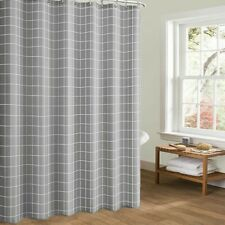 Geometric Shower Curtain Polyester Thicken Bathroom Curtain Hook Waterproof Chic