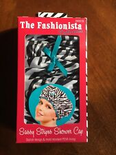 Betty Dain Sassy Stripes Shower Cap Style #5210Fashionista Collection