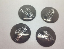 4X Fit Jaguar  Aluminum WHEEL CAPs EMBLEM Stickers 56mm NEW