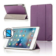 Leather Purple Smart Case Cover Stand Apple iPad Mini 4 2015 Screen Prot Stylus