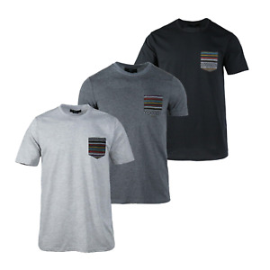 3 Pack Randomly Pick Beautiful Giant Men's T-shirt Basic Short Sleeve Pocket Tee