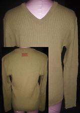 DOLCE & GABBANA D&G Mens V-Neck Sweater Jacket Sz 38 Medium/Large Green Acrylic