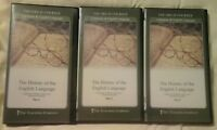 THE GREAT COURSES HISTORY OF THE ENGLISH LANGUAGE DVD SET OF 3
