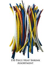 """110 Piece 10"""" Heat Shrink Tubing Assortment For Sleeving Wire And Cable Wrap"""
