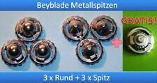 7 Ersatz-Spitzen für Beyblade Metal Fusion Spitzen 3x Rund + 3x Spitz + 1 Gratis