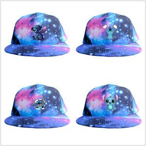 Lilo And Stitch sun cap Adjusted snapback baseball hat peak hip hop cap