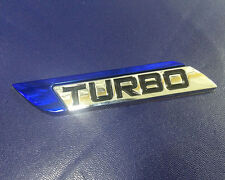 Dark Blue Navy Deep Blue Turbo Charger Metal Decal Emblem Badge Sticker
