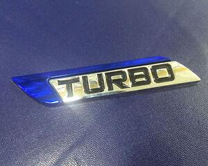 Dark Blue Navy Deep Blue Turbo Charger Metal Decal Emblem Badge Sticker