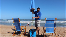 Portable Beach Umbrella/Cooler Stand! See how it works-see Video in listing!