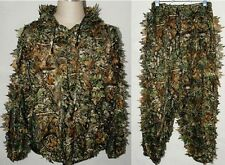 3D REALTREE CAMO HUNTING LEAF NET GHILLIE SUIT JACKET AND TROUSERS DISGUISE NEW