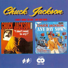 """CHUCK JACKSON  """"I DON'T WANT TO CRY - ANY DAY NOW""""  2 LP's ON 1 CD   24 TRACKS"""