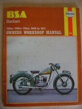 BSA Bantam Haynes #117 Owners Workshop Manual