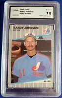 1989 Randy Johnson Fleer ROOKIE # 381 Graded Gem MT 10