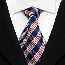 Men's Ties Fashion Silk Tie Red Jacquard Woven Casual Ties Suits Necktie L130