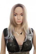Dunkelblonde glatte Perücken & Haarteile aus Kunsthaar-Kunst