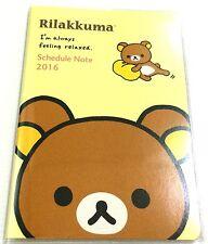 Japan Import NEW 2016 RILAKKUMA San-X Schedule Note Book