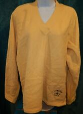 Gear For Sports GREEN BAY PACKERS Soft Yellow LS V-Neck Sweatshirt Women's XL