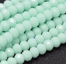 20 Jade Stein Perlen 6mm Mint Grün Rondelle Halbedelstein Edelstein BEST  G911