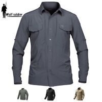 Army Mens Tactical Shirt Military Combat Shirt Cargo Outdoor Casual Shirt Hiking