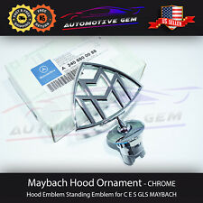 OEM Genuine Maybach Hood Emblem Ornament Badge Standing Star AMG Edition