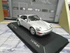 PORSCHE 911 964 Turbo 1990 silber silver 1/500 Minichamps 1:43