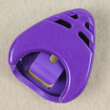 Plastic Guitar Picks Plectrum Holder Case Acoustic Electric - Purple