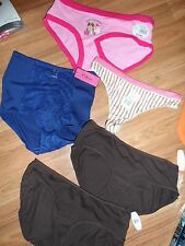 lot of 5 panties hipster bikini thong brief ~ Small 5 ~ Steve Xhilaration Elena