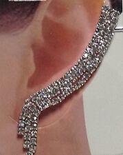 orecchini mono ear cuff con brillantini idea regalo donna ragazza elegante