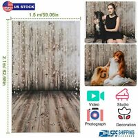 Photography Backdrops Wooden Wall Floor Photo Props for Studio Background 5x7FT