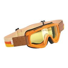 Biltwell Overland Goggle, Moto Lunettes, Orange pour jethelme/Antibuée!