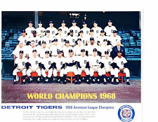WORLD CHAMPS 1968 DETROIT TIGERS 8X10 PHOTO KALINE CASH MICHIGAN BASEBALL