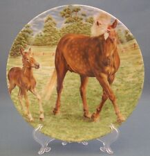 Kaiser Collectible Hose Plate Wall Hanging Mare And Foal West Germany E & R