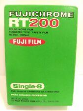 FUJICHROME RT200 Single-8 Color Movie Film - Tungsten, Rare Fuji Sealed!