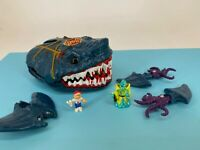 Vintage - Mighty Max - 1990s - Doom Zones - CAUGHT BY MAN EATER SHARK - Complete